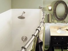52 Best Curved Shower Curtain Rod Images On Pinterest Bathrooms Small And Bathroom