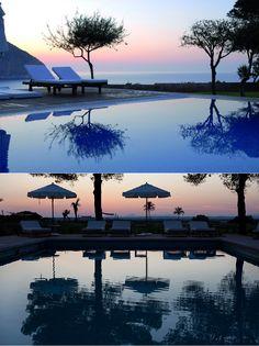 Hotel Can Simoneta   Boutique Hotel   Spain   http://lifestylehotels.net/en/can-simoneta   outdoor, pool, dusk, sunset, swimming, water, romantic