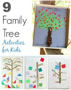 Kids will love sharing what they've learned about their family history with these 9 family tree activities- such a fun way to explore genealogy!