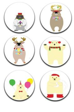 A pack of 6 christmas fun Pattern weights Ideal for weighing down patterns on delicate fabrics no need for pins TV sewing Bee by RICEMETALS on Etsy
