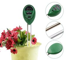 Soil Moisture Meter, 3-in-1 Soil pH Meter, Light and pH / acidity Meter Plant Tester for Houseplants, Outdoor Plants, Bonsais, Succulents, Trees, Grass and Lawn (No Battery Required). ✔ Multi-function: Gardeners can conveniently test the soil's moisture, light, and pH levels with the handy 3-Way Meter. ✔ Wide Use: This 3-way meter can use for Soil Moisture Meter, Soil pH Meter and Soil Test Kit, is ideal for indoor houseplants, outdoor plants, bonsais, succulents, trees, grass and even…