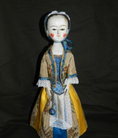 Queen Anne doll by Alena Sinel  http://theoldwoodensisters.blogspot.com/