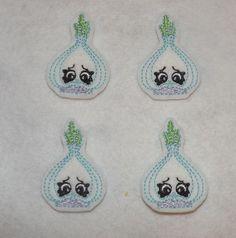 Feltie Machine Embroidered Hand made 4 Felt by HeartFeltCreation