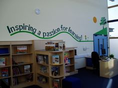 School motto in the school library. by Charlotte Designs