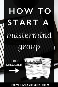 In the last two posts I've told you that you (1) Need smart and supportive people around you to build and grow a profitable business and (2) I've defined what a mastermind group is and how it's the best way to surround yourself with the smart and supportive people you need. Today let's talk about …
