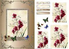 Flower And Butterflies Card Front