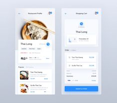 Food Delivery App designed by Mateusz Piatek for Connect with them on Dribbble; Ui Design Mobile, Ios App Design, Web Design, User Interface Design, Graphic Design, Flat Design, App Design Inspiration, Design Thinking, Restaurant App