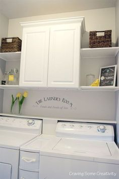 Image result for laundry room redo cabinet
