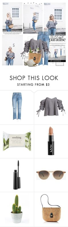 """""""Life is short, break the rules. Forgive quickly, kiss slowly. Love truly. Laugh uncontrollably and never regret anything that makes you smile."""" by mars ❤ liked on Polyvore featuring Caroline Constas, Forever 21, NYX, MAC Cosmetics, Hampton Sun and Mark & Graham"""