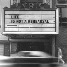 Movie Theater Billboard | Theatre Sign | Now Playing | Quote