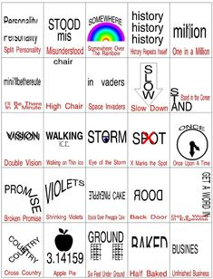 Hidden Meaning Brain Teaser Game Brain Teasers are a great way to challenge the brain and have a little fun. Check out this printable brain teaser game with the answers that you an play at your Divergent party or anytime you need a little brain stretch. Printable Brain Teasers, Brain Teasers Riddles, Brain Teasers With Answers, Brain Teasers For Kids, Rebus Puzzles, Logic Puzzles, Mind Games Puzzles, Funny Puzzles, Brain Teaser Games