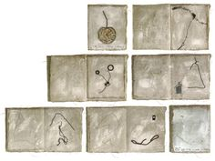 "Beata Wehr Zeszyt o czasie, Pages on time2006, mixed media 25x22 cm, 10x8.5"""