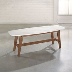 Show off your love for retro style when you bring the Sauder Soft Modern Coffee Table into your home. This durable table has been finished with a top. Faux Marble Coffee Table, Walnut Coffee Table, Cool Coffee Tables, Modern Coffee Tables, Office Furniture, Living Room Furniture, Furniture Design, Modern Furniture, Furniture Sets