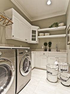Hanging rod above the washer & dryer.