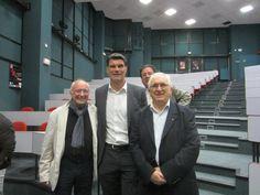 Le Président de Prestige & Excellence avec l'ancien capitaine de l'équipe de France de Rugby Fabien Pelous , Mr Menez et Mr Cuevas à GROUPE ESC PAU