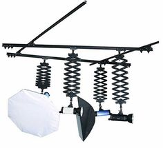 Ceiling Track with 4 Pantographs Photography Studio Setup, Photography Lighting Setup, Light Photography, Product Photography, Ceiling Light Design, Ceiling Lighting, Home Photo Shoots, Music Studio Room, Studio Backdrops
