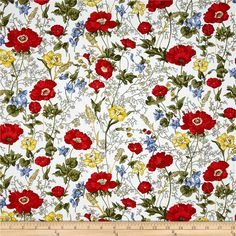Designed for Timeless Treasures, this cotton print fabric is perfect for quilting, apparel and home decor accents. Colors include red, yellow, green, blue and white.