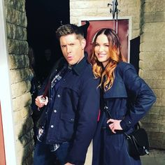 """justjensenanddean: """" danneelackles512: TB to my first day on set of SPN They take things very seriously here. More to come. #spnfamily  """""""