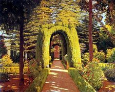 Gardens of Aranjuez to Santiago Rusiñol we manufacture for you on watercolor paper, canvas or poster paper. Spanish Painters, Impressionism, Spanish Art, Landscape Paintings, Spanish Artists, Amazing Paintings, Art, Landscape Art, Garden Painting