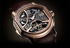 Daniel Roth Carillon Tourbillon, an original three-hammer Minute Repeater with a pure, contemporary face.  The new calibre on the Daniel Roth Carillon Tourbillon is entirely made in-house by Bulgari, featuring excellent acoustics and an original design. http://www.luxuriousmagazine.com/?p=12947