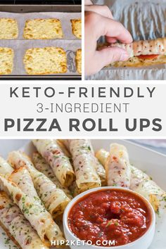 When those pizza cravings hit, you'll be set with this recipe. It totally hits the spot, and all you need is a couple of basic ingredients that you may already have on hand. If you've got cheese and pepperoni, you can make keto pizza roll-ups! Appetizer Recipes, Keto Recipes, Cooking Recipes, Healthy Recipes, Appetizers, Bariatric Recipes, Skillet Recipes, Cooking Gadgets, Pizza Recipes