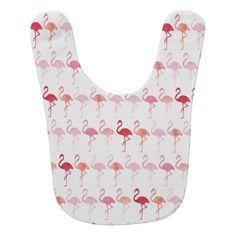 Cute Flamingo Pattern Baby Bib