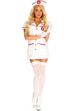 Sexy Nurse Costume - Naughty Nurse Costume and Fancy Dress Nurse Halloween Costume, Sexy Nurse Costume, Halloween Costume Accessories, Halloween Outfits, Nursing Clothes, Sexy Stockings, Up Girl, Sensual, Fancy Dress