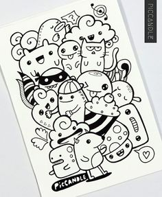 Drawing Doodles Sketches 40 Simple and Easy Doodle Art Ideas to Try - Gone are those days when doodling was only for the kids. If you want to touch your artistic side, these simple and easy doodle art ideas to try. Cute Doodle Art, Doodle Art Designs, Doodle Art Drawing, Doodle Sketch, Drawing Ideas, Simple Doodle Art, Doodle Wall, Kawaii Doodles, Cute Doodles