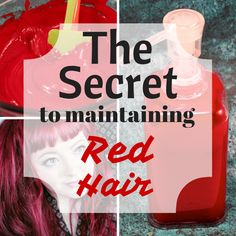 Do you have colored bright red hair? I know the struggle with keeping it bright and beautiful. Here's a solution that works like a dream.