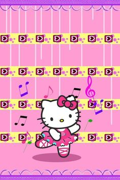 Hello Kitty Girly Wallpaper for iPhone 5S. #sanrio