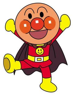 ANPANMAN my daughter loves this guy made from bread!!!