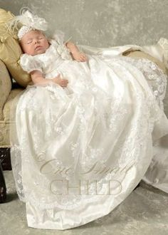 Baptism dress... I love everything about this dress..  Not so much the head band