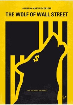 The Wolf of Wall Street (2013) ~ Minimal Movie Poster by Chungkong #amusementphile