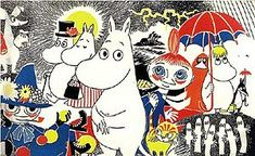 I grew up reading the books about the  Mumintroll (Moomintroll) characters and their adventures in Moominvalley,written by Tove Jansson.