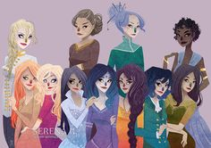 [Commission] Wheel of Time Ladies by TheQueenSerena on DeviantArt
