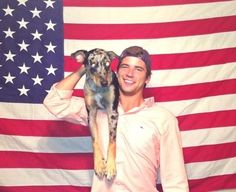 God Bless America, Frat Boys & puppies @Leah Warknock dont you know him??