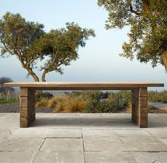 """Backyard and decks. 108"""" Aspen Dining Table. Add a few cabanas and some end tables/coffee tables."""