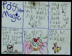 possum magic story line, so gorgeous Teaching Themes, Kindergarten Activities, Writing Activities, Writing Ideas, Mem Fox Books, Talk 4 Writing, Possum Magic, Australian Animals, Australian Bush