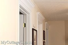 DIY:  How to Add Moulding to Your Door Frames - Door Header Tutorial - customize your home by adding the finishing touches. This explains how to correctly cut, measure, attach & paint moulding - My Cottage Charm