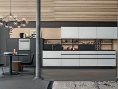 Lacquered kitchen with handles MY PLANET by Varenna by Poliform
