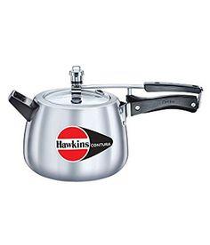 Hawkins HC65 Contura 6.5-Liter Pressure Cooker, Small, Silver by Hawkins