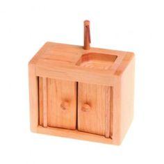 For her dollhouse. Wooden Dollhouse Furniture - Kitchen Sink