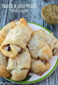 Pesto filled crescent rolls that make a perfect quick lunch or dinner that everyone in your family will love!