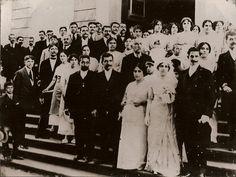 A colônia libanesa reunida no casamento de Jorge Elias Sahione e Victória Fadel Sahione