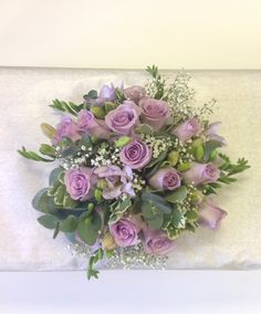 Ocean song roses and lilac freesia