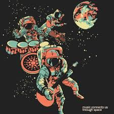 music connects us through space Astronaut Illustration, Space Illustration, Psychedelic Space, Space Music, Illustrations And Posters, Vector Art, Fantasy Art, Cool Art, Concept Art