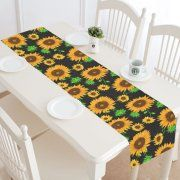 MYPOP Sunflower Table Runner Home Decor 14x72 Inch, Floral Table Cloth  Runner For Wedding Party Banquet Decoration Image 1 Of 4