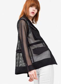 Uterqüe United Arab Emirates Product Page - Ready to wear - See all - Cutwork safari jacket - 850