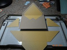 picture tutorial on how to make an insert for the pointy envelope using the Stampin' Up! envelope punch maker