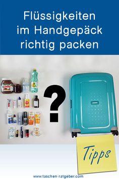 Flüssigkeiten im Handgepäck richtig packen .... Blog, Baby Meals, Tips, Blogging